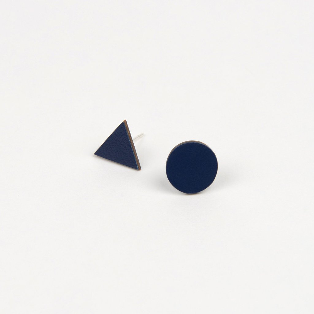Tom Pigeon Tom Pigeon Form Series Mix Match Earrings in Navy. Jewellery. Compendium Design Store. AfterPay.