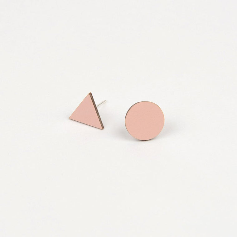 Tom Pigeon Form Series Mix Match Earrings in Pink. Tom Pigeon. Compendium Design Store. AfterPay, ZipPay accepted.
