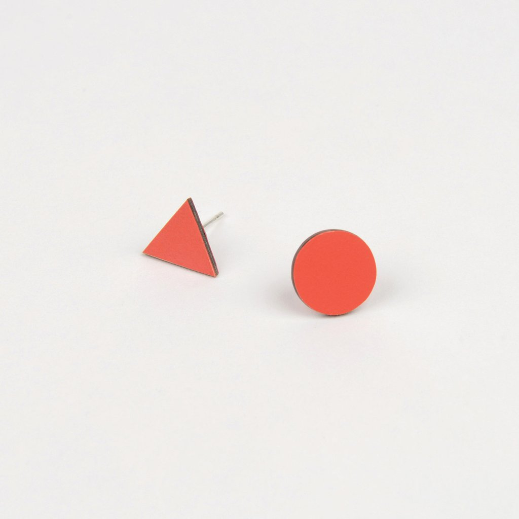 Tom Pigeon Form Series Mix Match Earrings in Red. Tom Pigeon. Compendium Design Store. AfterPay, ZipPay accepted.