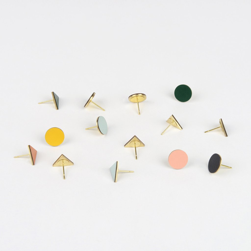 Tom Pigeon Form Series Mix Match Earrings in Forest. Compendium Design Store, Fremantle. AfterPay, ZipPay accepted.