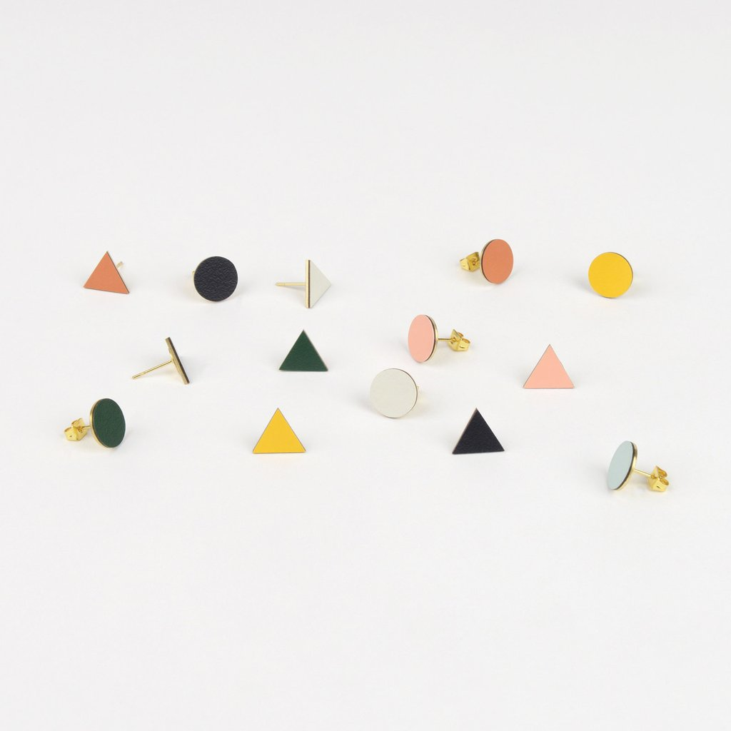 Tom Pigeon Form Series Mix Match Earrings in Midnight. Compendium Design Store, Fremantle. AfterPay, ZipPay accepted.