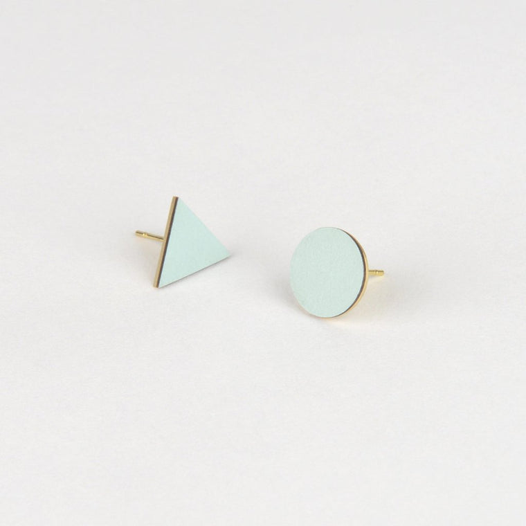Tom Pigeon Form Series Mix Match Earrings in Ice Blue