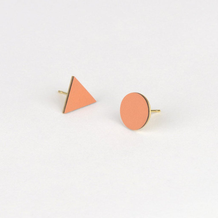 Tom Pigeon Form Series Mix Match Earrings in Tan
