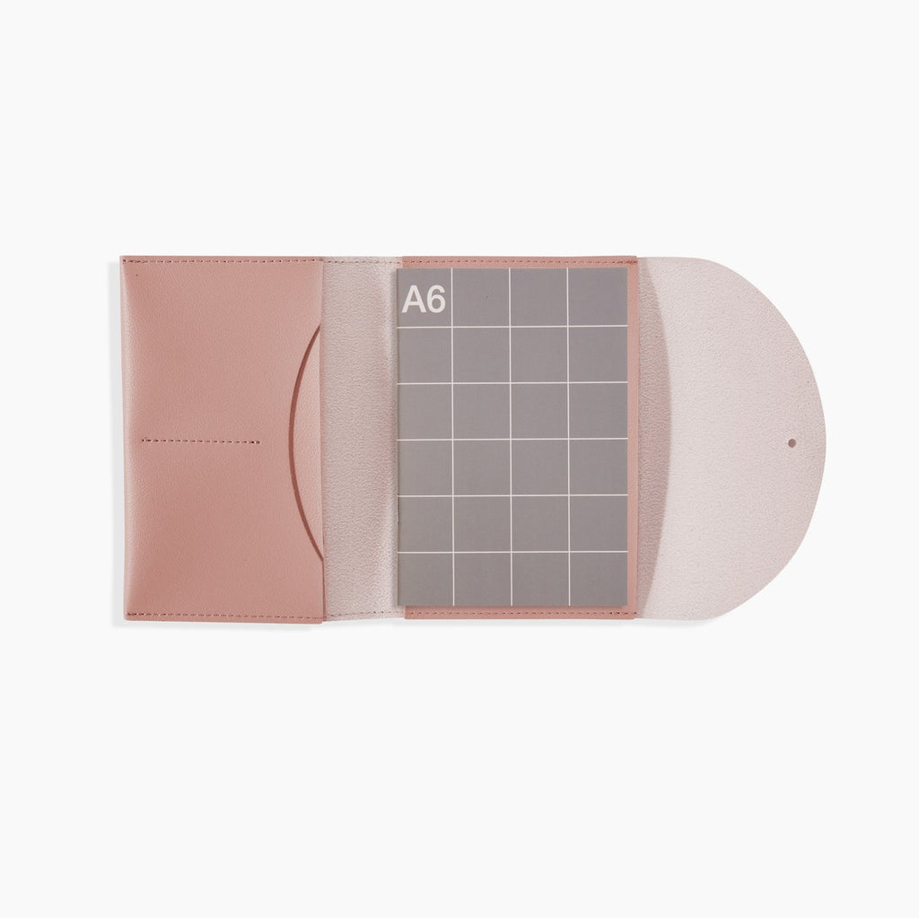 Minimalist Folio Compendium Small in Blush. Compendium Design Store, Fremantle. AfterPay, ZipPay accepted.