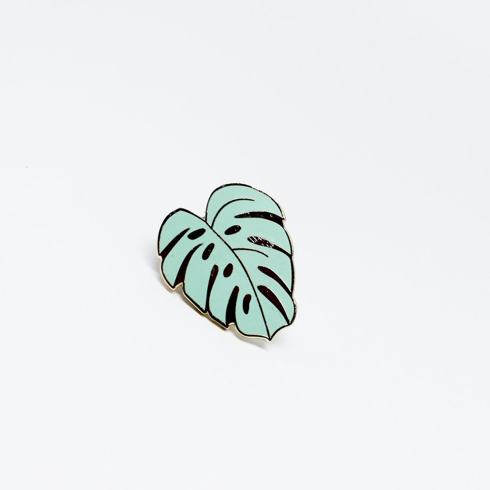 Monstera Pin Green. Compendium Design Store, Fremantle. AfterPay, ZipPay accepted.