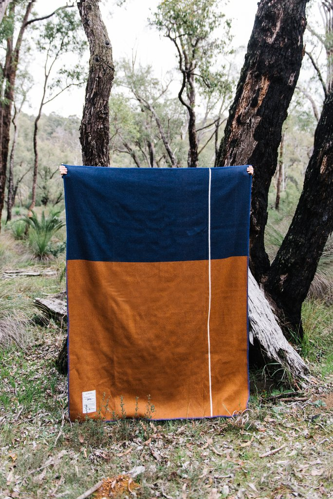 Ghost Outdoors Ochre Road Army Blanket. Compendium Design Store, Fremantle. AfterPay, ZipPay accepted.