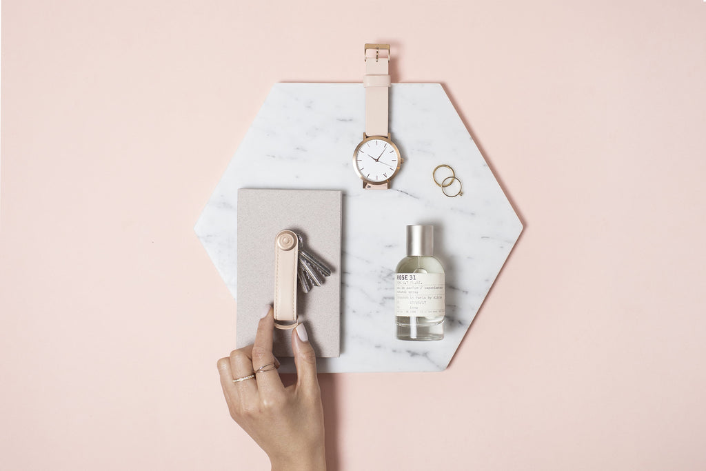 Orbitkey 2.0 Key Organiser. Premium Leather & Rose Gold Edition.. Compendium Design Store, Fremantle. AfterPay, ZipPay accepted.