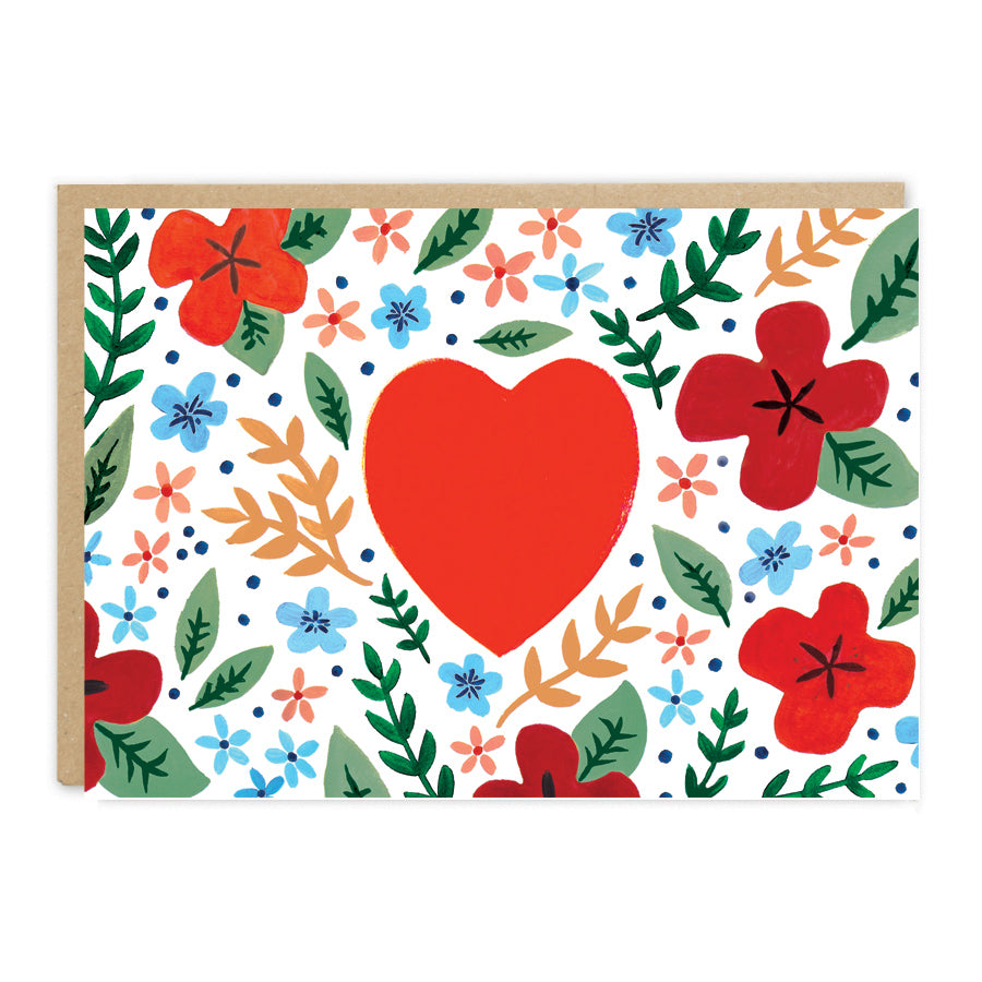 Valentines Day Folk Card. Compendium Design Store, Fremantle. AfterPay, ZipPay accepted.