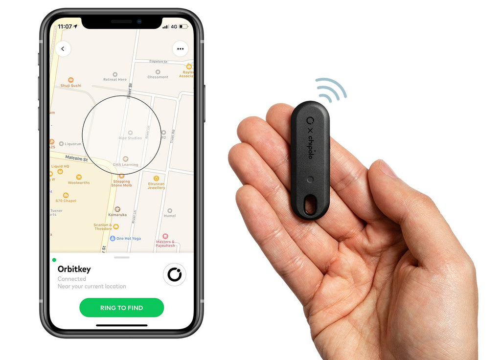 Orbitkey x Chipolo Bluetooth Tracker. Compendium Design Store, Fremantle. AfterPay, ZipPay accepted.