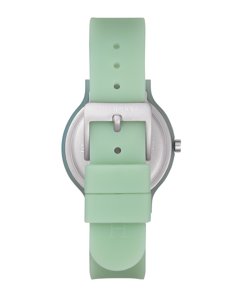 SA3 The Horse Blockout Unisex Watch in Sage Green. Compendium Design Store, Fremantle. AfterPay, ZipPay accepted.