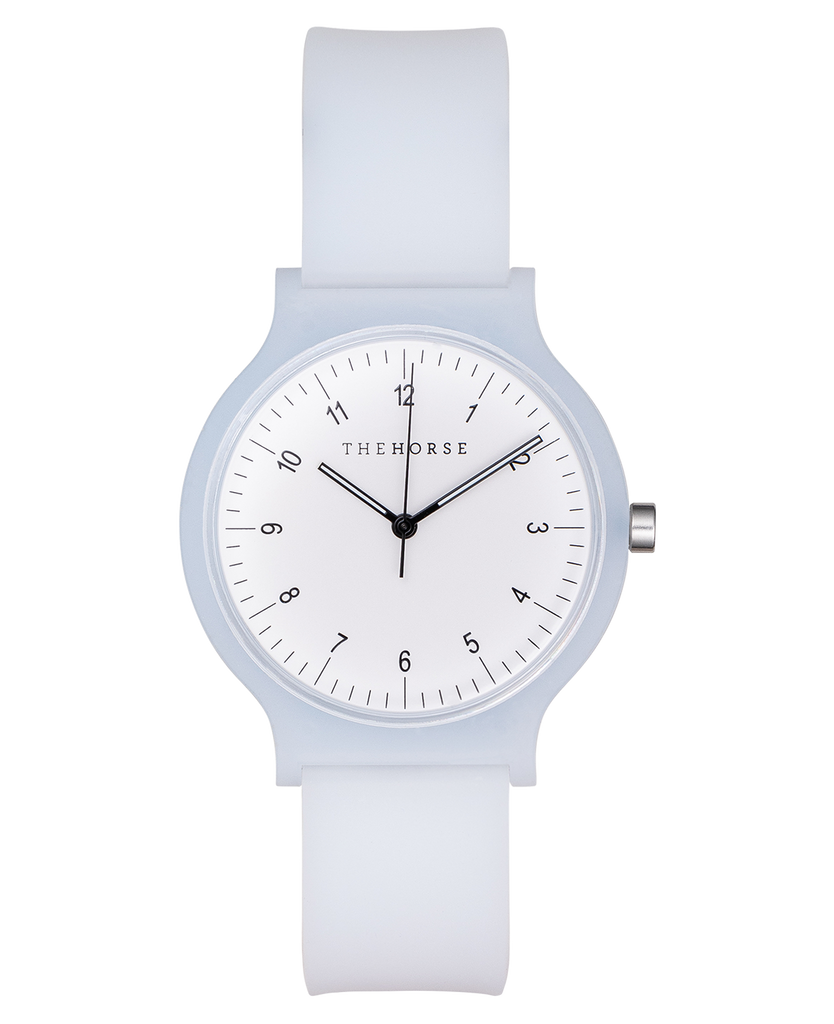 The Blockout Watch in White. Compendium Design Store, Fremantle. AfterPay, ZipPay accepted.