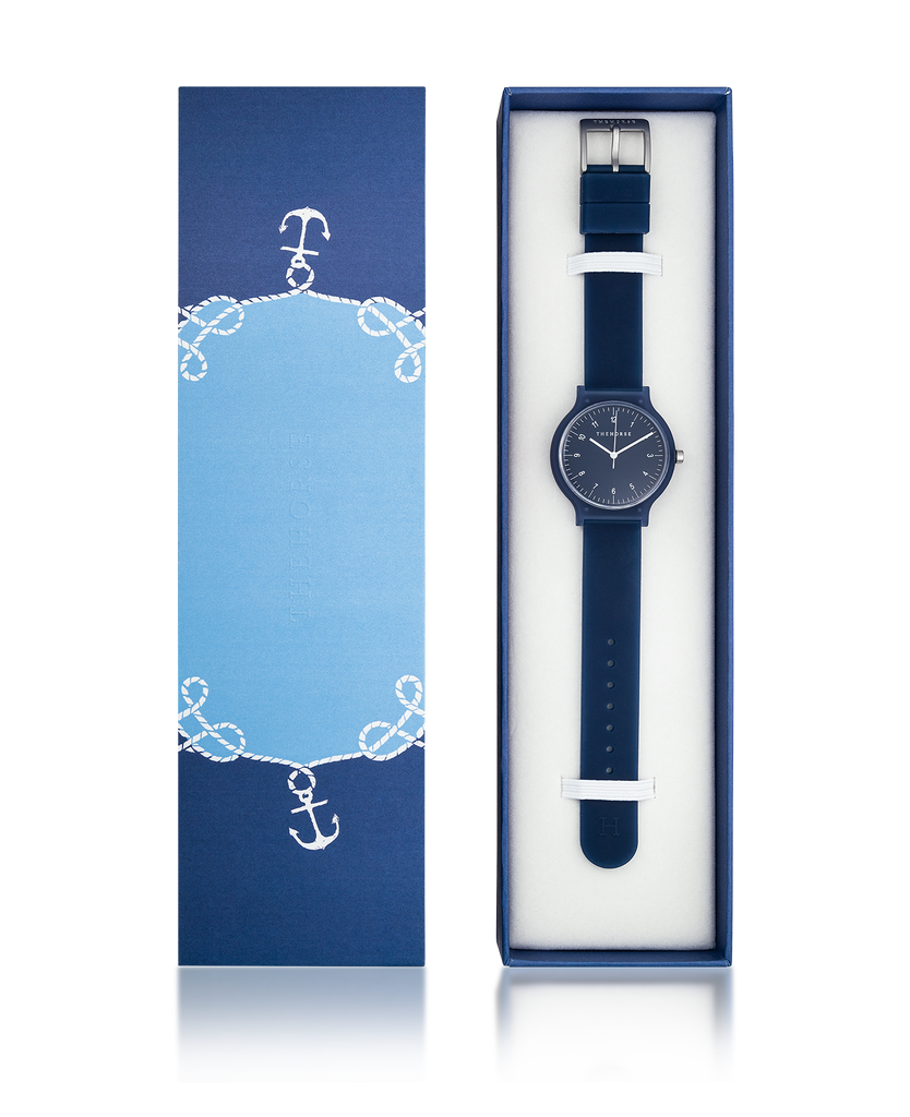 The Blockout Watch in Navy. Compendium Design Store, Fremantle. AfterPay, ZipPay accepted.
