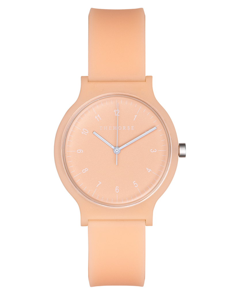 SA6 The Horse Blockout Unisex Watch in Peach. Compendium Design Store, Fremantle. AfterPay, ZipPay accepted.