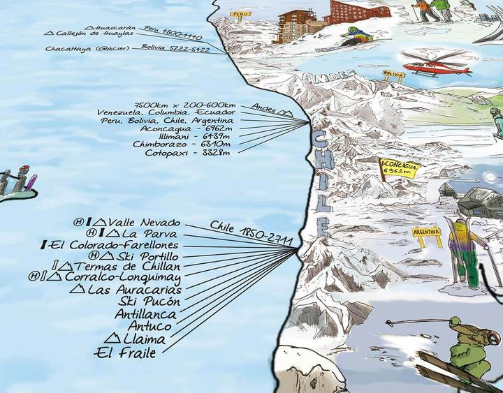 The Snow Trip Map Re-Writable Poster. Compendium Design Store, Fremantle. AfterPay, ZipPay accepted.