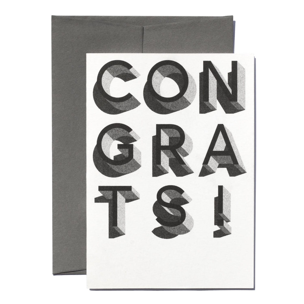 Congrats Risograph · Black & White. Jot Paper Company. Compendium Design Store. AfterPay, ZipPay accepted.
