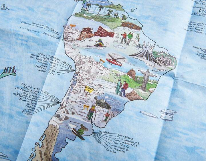 The Snow Trip Map Foldable. Compendium Design Store, Fremantle. AfterPay, ZipPay accepted.