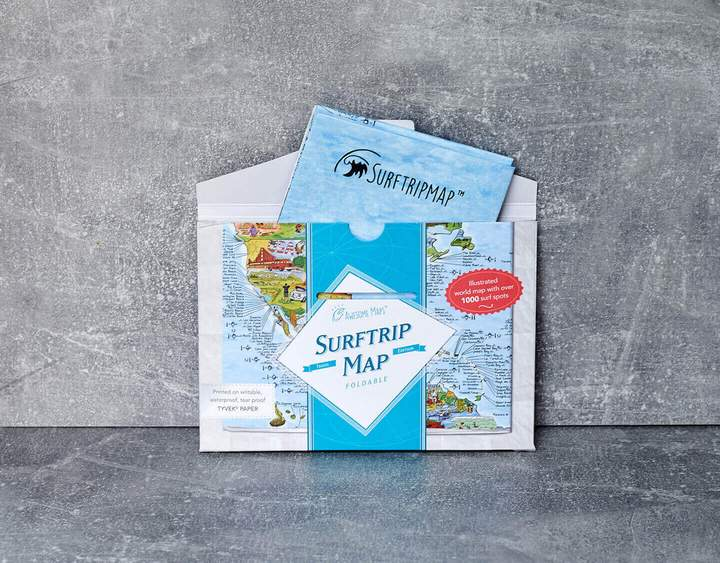The Surf Trip Map Foldable. Compendium Design Store, Fremantle. AfterPay, ZipPay accepted.