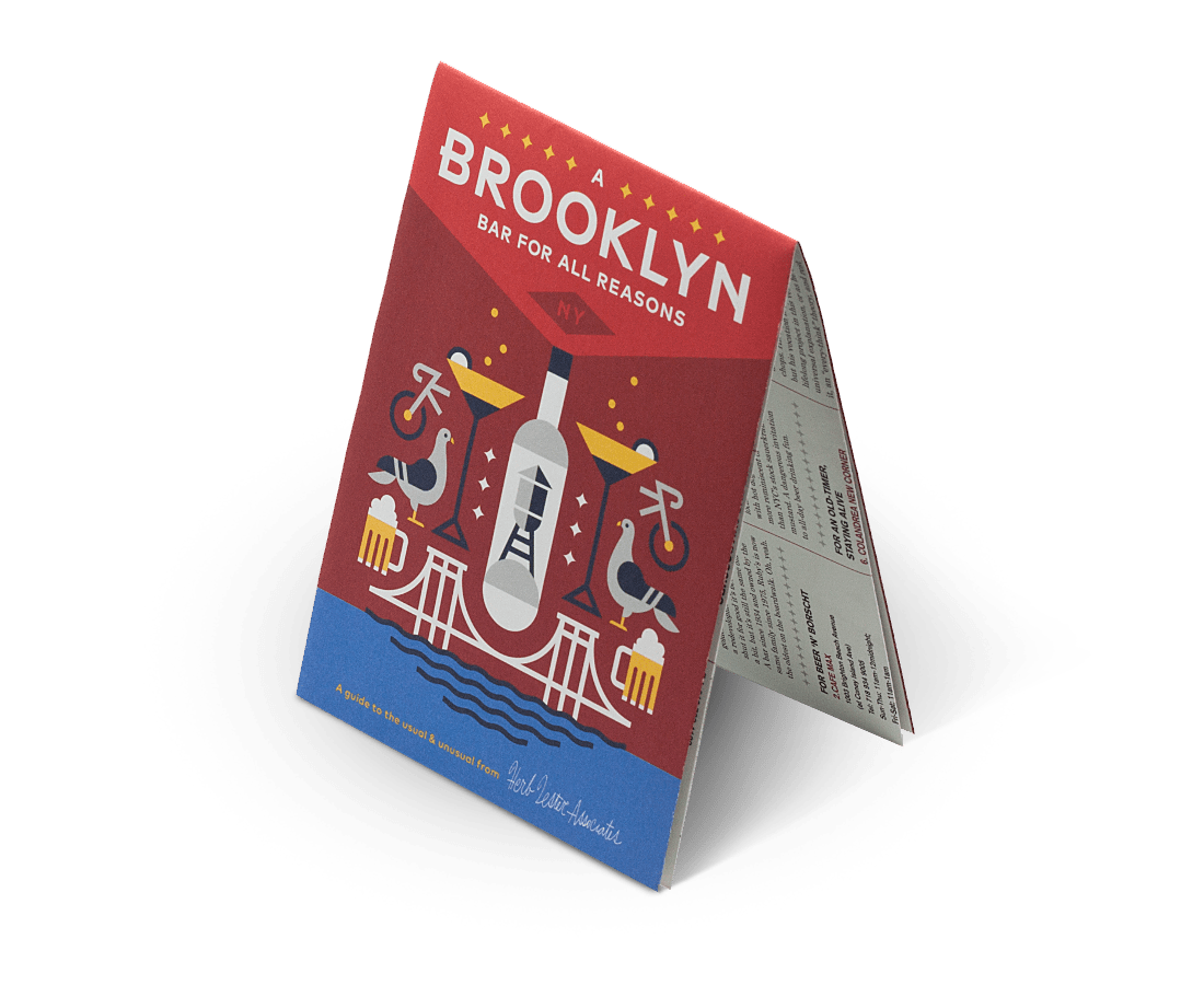 A Brooklyn Bar for All Reasons. City Guide & Map by Herb Lester Second Edition. Compendium Design Store, Fremantle. AfterPay, ZipPay accepted.