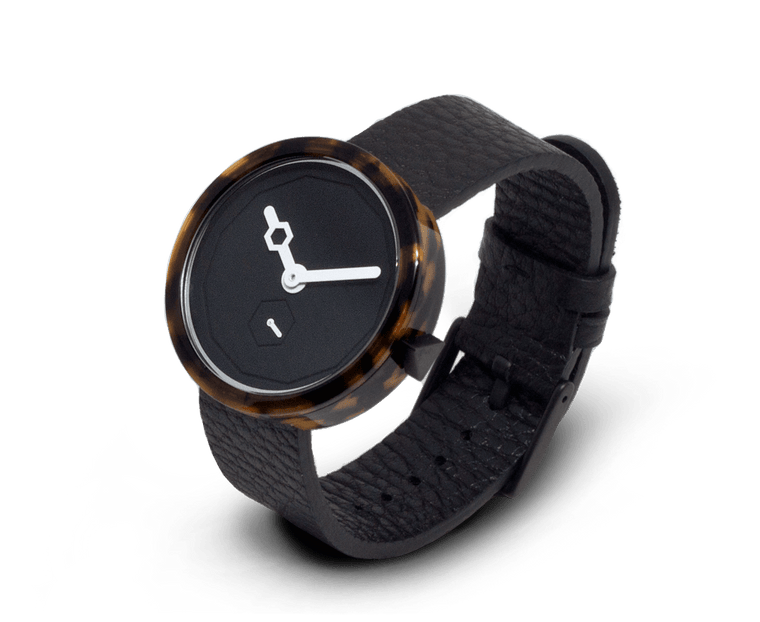 Aark Collective Classic Tortoise unisex watch in Black