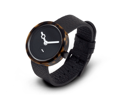 Aark Collective Classic Tortoise unisex watch in Black. AARK COLLECTIVE. Compendium Design Store. AfterPay, ZipPay accepted.