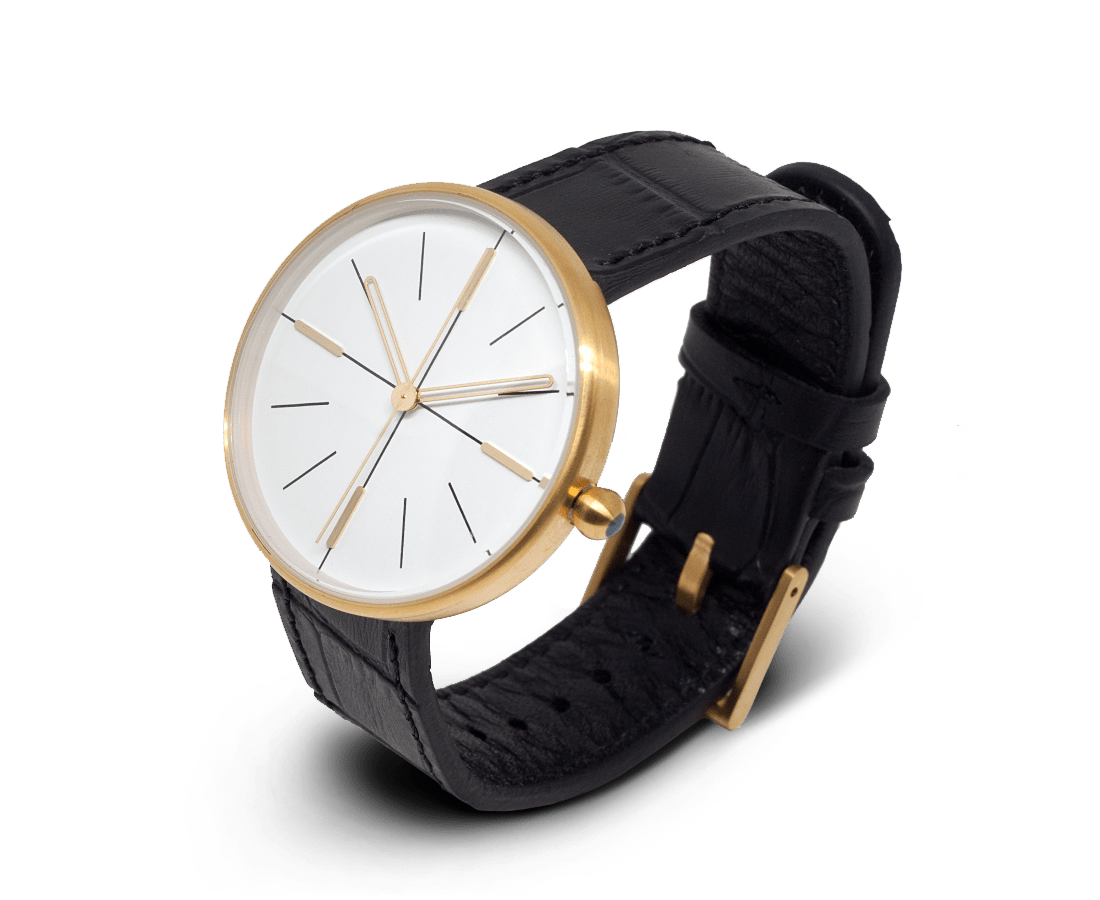 Aark Collective Dome unisex watch in Gold & Black. AARK COLLECTIVE. Compendium Design Store. AfterPay, ZipPay accepted.