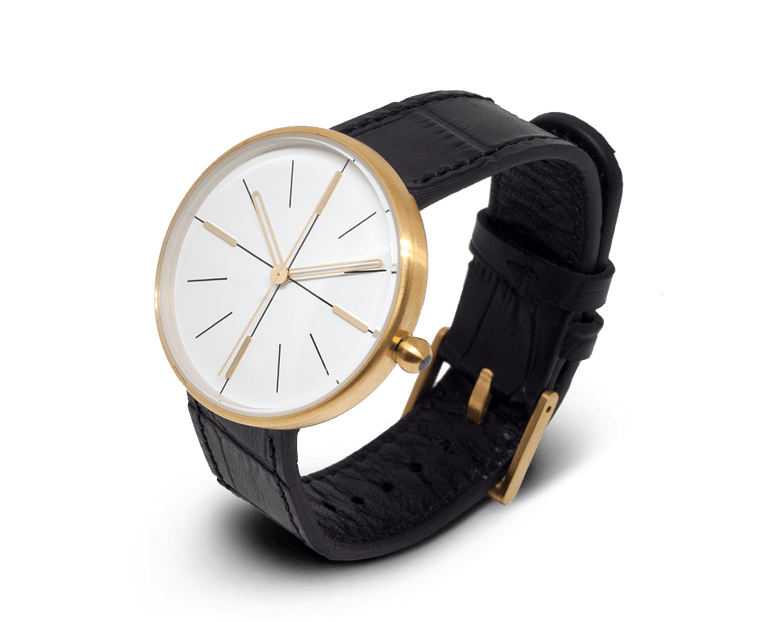Aark Collective Dome Unisex Watch in Gold & Black