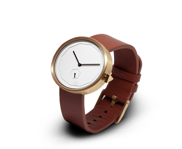 Aark Collective Classic Neu unisex watch in Gold/Tan