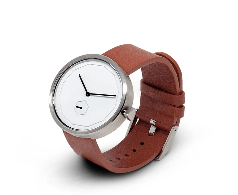 Aark Collective Classic Neu unisex watch in Silver/Tan