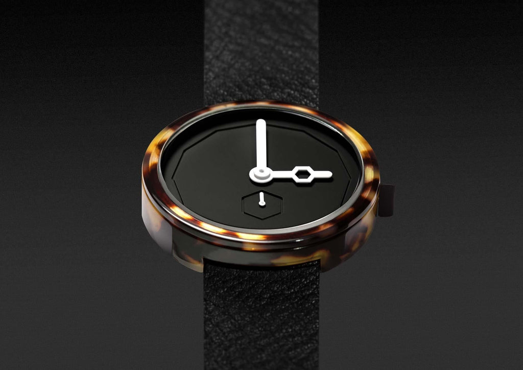 Aark Collective Watches Aark Collective Classic Tortoise Shell unisex watch in Black