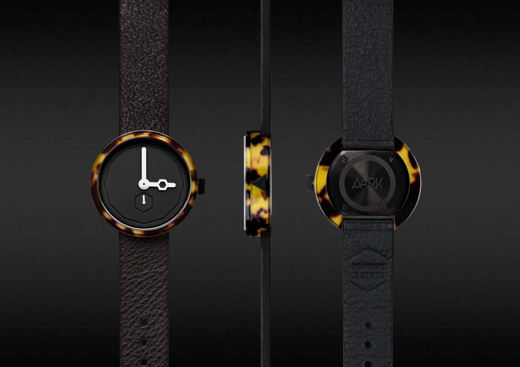 Aark Collective Classic Tortoise Watch in Black. Compendium Design Store, Fremantle. AfterPay, ZipPay accepted.