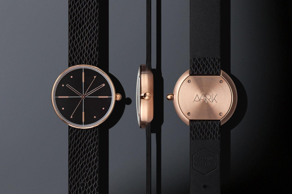 Aark Collective Watches Aark Collective Dome unisex watch in Black & Rose Gold