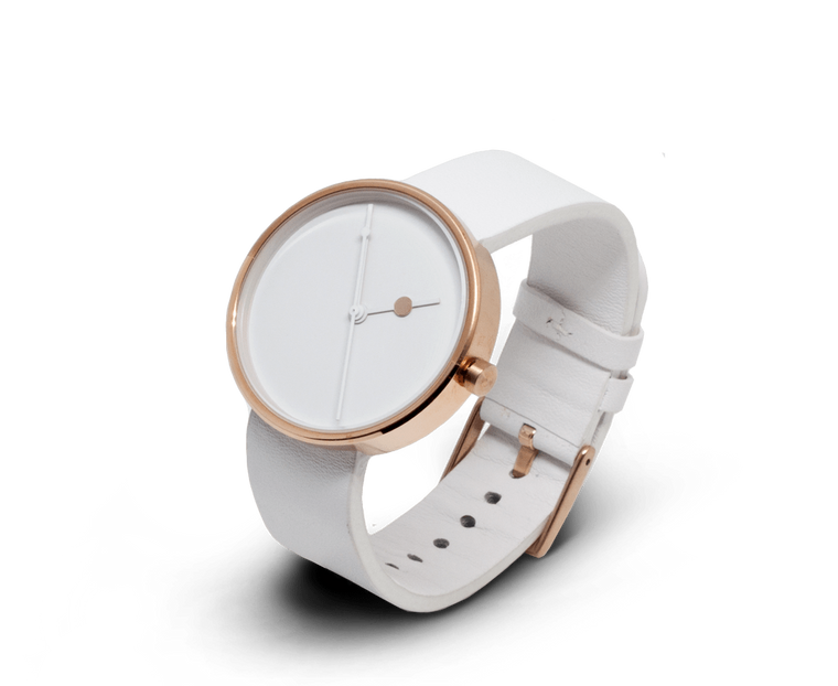 Aark Collective Eclipse ladies watch in Rose Gold & White