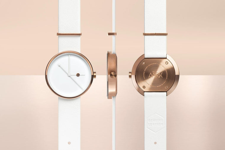 Aark Collective Watches Aark Collective Eclipse ladies watch in Rose Gold & White
