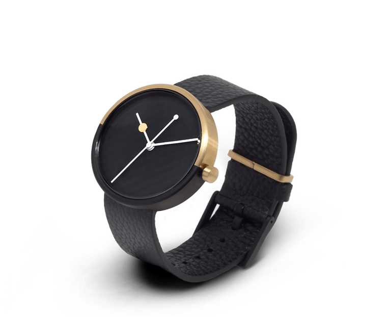 Aark Collective Eclipse unisex watch in Black & Gold