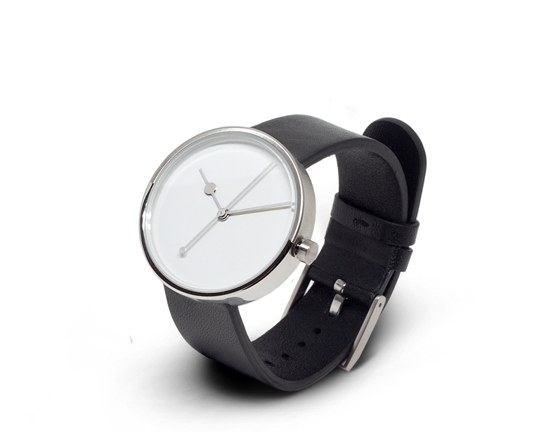 Aark Collective Eclipse unisex watch in Silver and Black