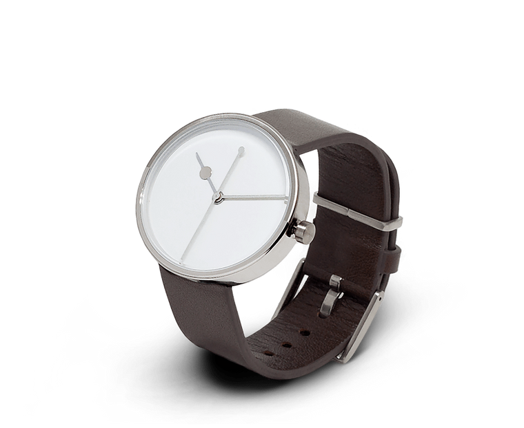 Aark Collective Eclipse unisex watch in Silver and Brown