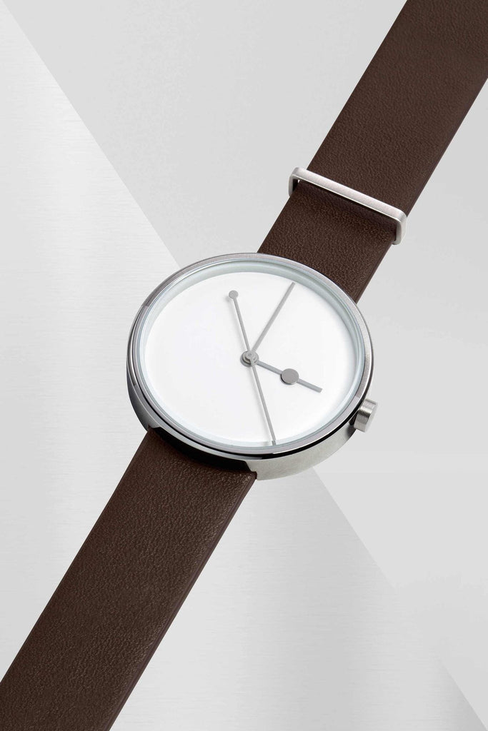 Aark Collective Watches Aark Collective Eclipse unisex watch in Silver and Brown
