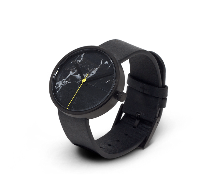 Aark Collective Nero marble unisex watch