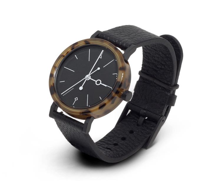 Aark Collective Shell Watch Brown & Black