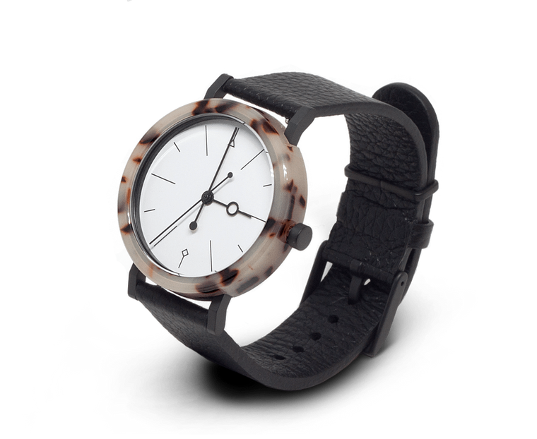Aark Collective Shell watch in White