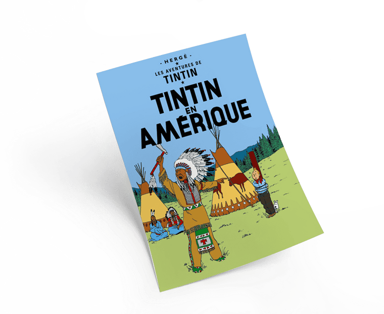 The Adventures of Tintin: Tintin en Amérique Poster in French. 50x70cm