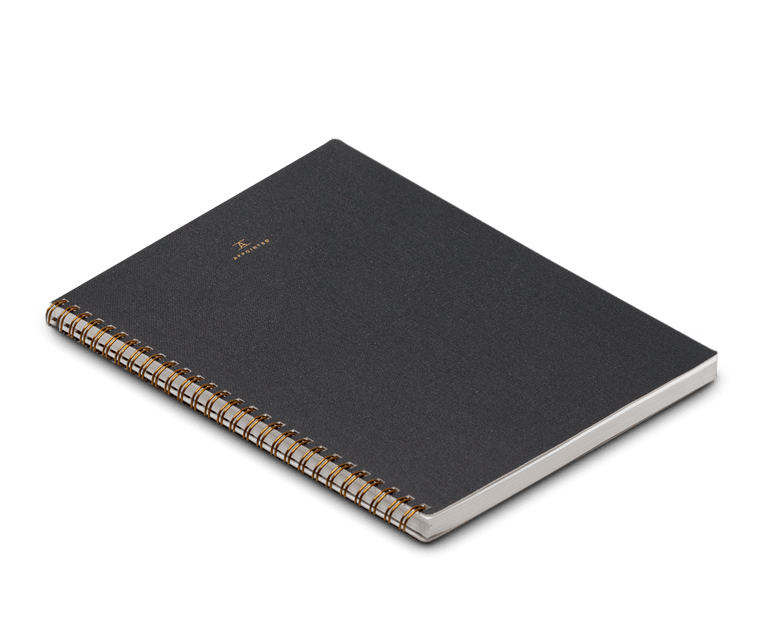 Appointed Notebook Extra Large Softcover in Charcoal