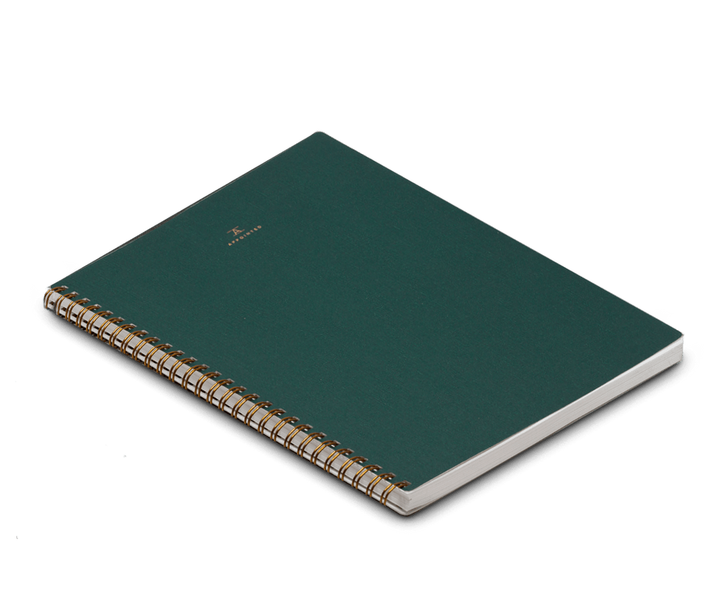 Appointed Notebook Extra Large Softcover in Hunter Green