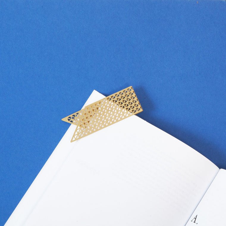 Award Brass Bookmark. Fundamental Berlin. Compendium Design Store. AfterPay, ZipPay accepted.