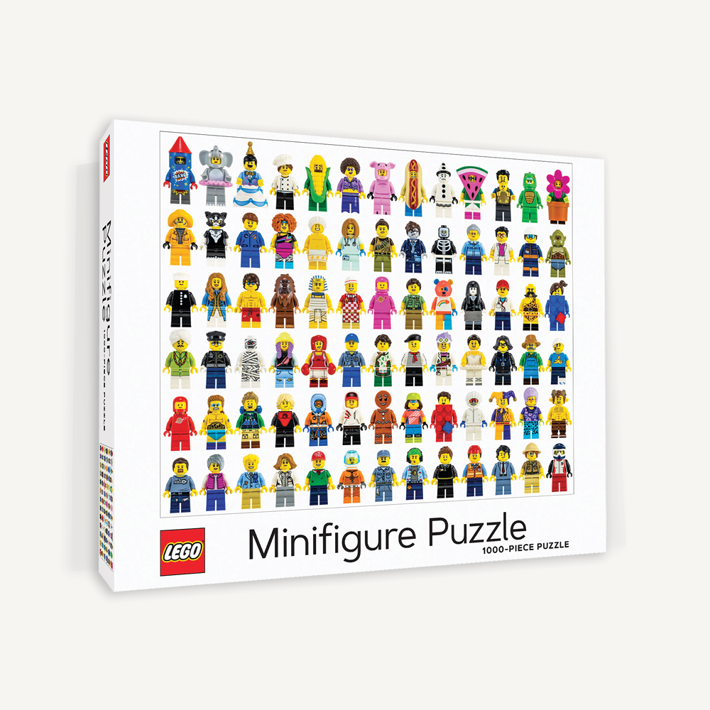 LEGO Minifigure Puzzle. Compendium Design Store, Fremantle. AfterPay, ZipPay accepted.