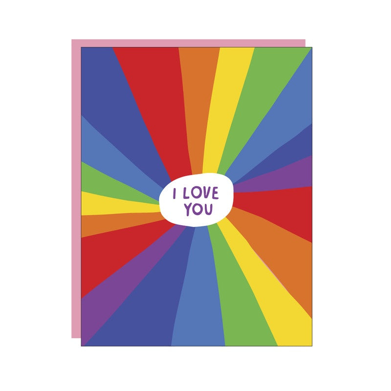Rainbow Love You. Compendium Design Store, Fremantle. AfterPay, ZipPay accepted.