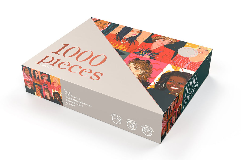 Journey of Something Hey Lady! 1000 Piece Puzzle. Compendium Design Store, Fremantle. AfterPay, ZipPay accepted.