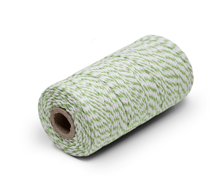 Bakers Twine 100% Cotton Green & White