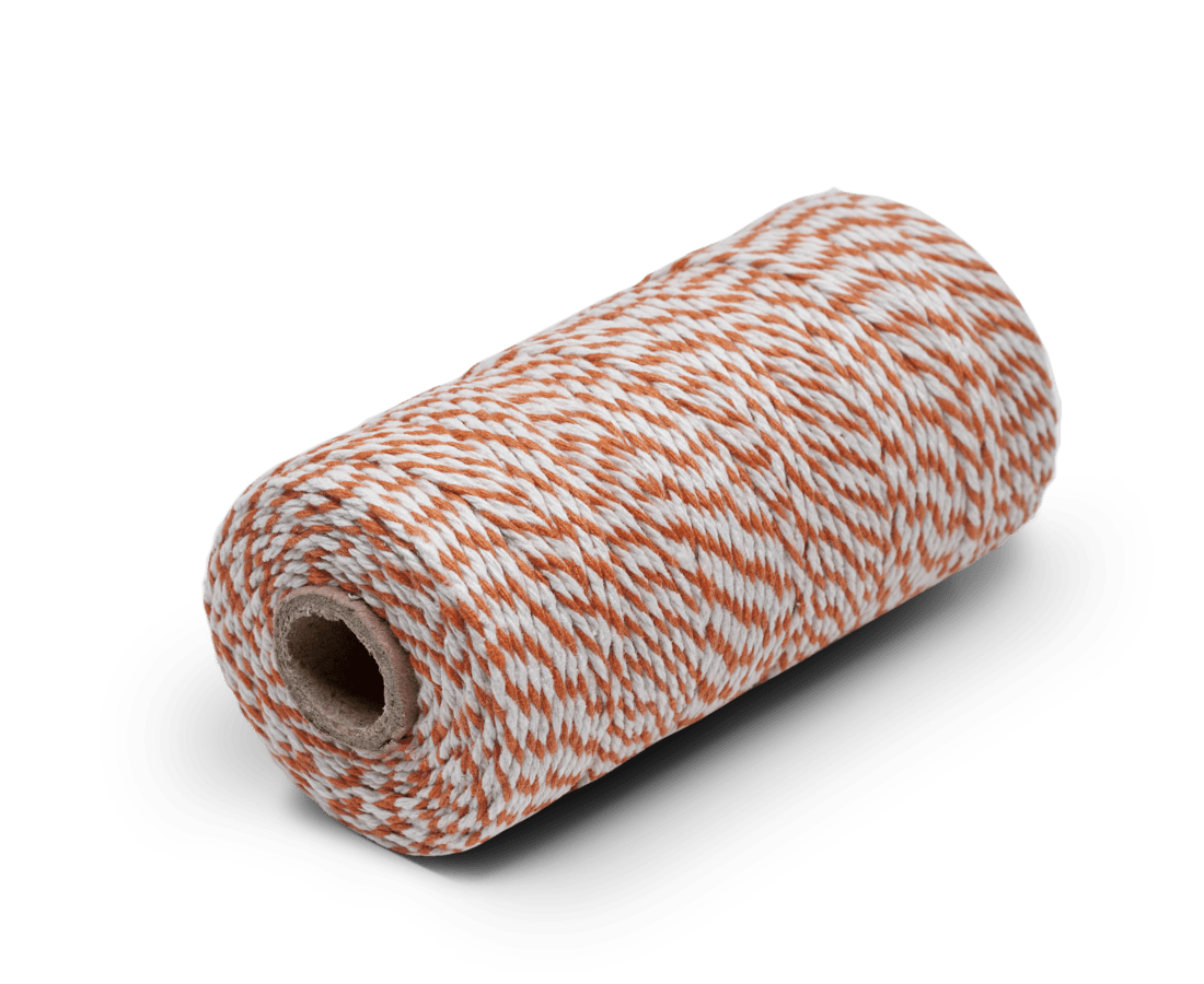 Bakers Twine 100% Cotton Orange & White