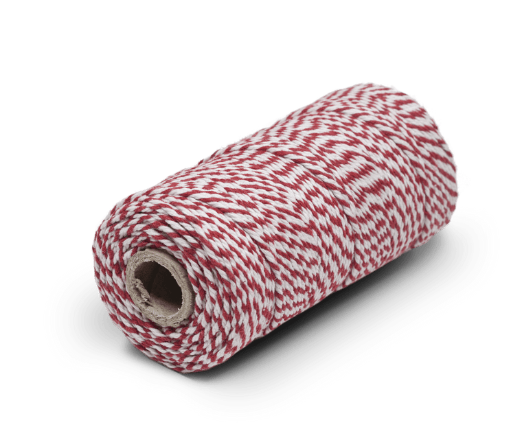 Bakers Twine 100% Cotton Red/White